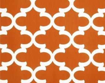 Pair (2 panels) high end designer grommet top curtain panels drapes, Fynn Macon Apache Orange