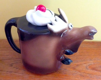 Chocolate Moose Teapot 1992
