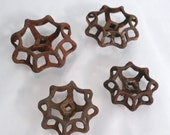 Set of 4 Vintage Rusty Oxidized Spigot Handles