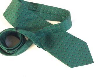 Vintage Green Jsaco Silk Necktie