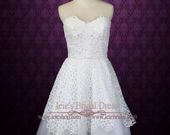 Short Lace Wedding Dress | Reception Wedding Dress | Destination Wedding Dress | Outdoor Wedding Dress