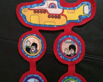 Beatles ornaments (not a licensed product) yellow submarine set # 1