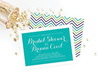 Classy Chevron Bridal Shower Invitation