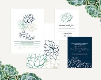 Succulent Fall Wedding Suite