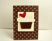 Cupcake Birthday Card,  Chocolate Cupcake Birthday Card,  Happy Birthday Cupcake Card, Birthday Card with Cupcake, Chocolate Cupcake Card,