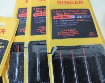 Sewing Supplies, Sewing Notions,Sewing Machine Needles, Singer Brand, New Old Stock,Machine needles, Hand Needles, Twenty Two Sewing Needles