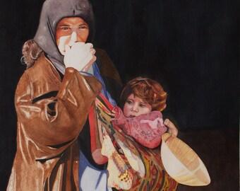 Original Watercolor Painting Watercolor painting Realistic painting Watercolor painting Realism Matted Framed