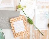 Booklet Wedding Program, DIY Wedding Program, Beach Wedding Program, Wedding Program Booklet, Order of Service, Order of Events, Peach