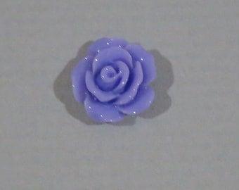 10 pcs 10mm Purple Resin Rose Cabochon