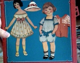 Vintage Old Fashioned Uncut Paper Dolls-Merrimack