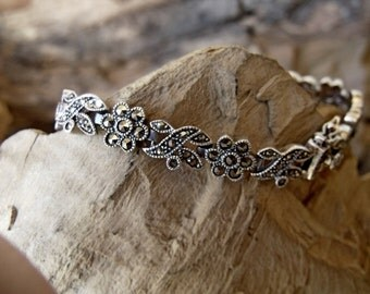 Sterling Silver Bracelet with Marcasite RF763