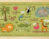 Kids Spanish Jungle Friends Placemat