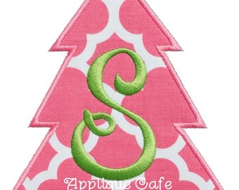 203 Simple Christmas Tree Machine Embroidery Applique Design