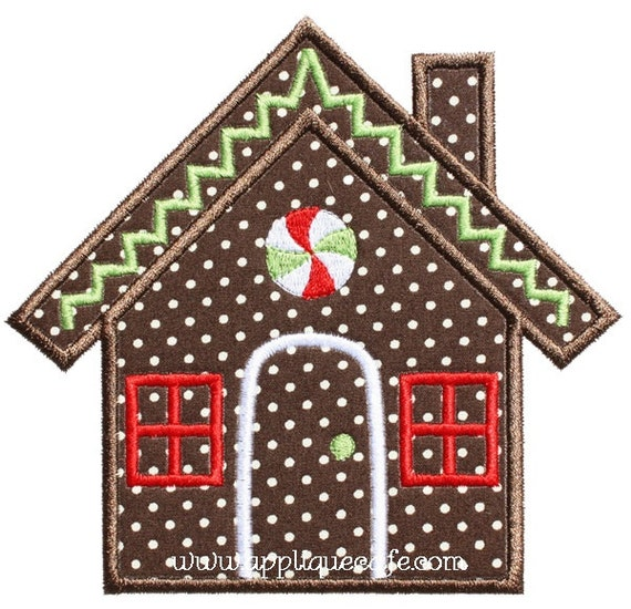 Items Similar To 526 Gingerbread House Machine Embroidery