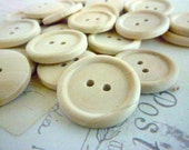 Wood Button, ONE INCH Round Wooden Buttons, Pack of 50