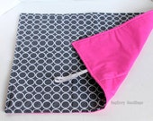 Circles and Pewter and Pink Changing Pad -  Or Custom To Match Your BagEnvy HandBag