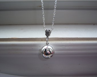 Vintage Ball Locket - Locket - Vintage - Orb Necklace - Free Gift With Purchase