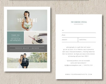 Photographer gift certificate template photography gift card photography templates photographer gift certificate template photo marketing templates digital photoshop designs yelopaper Image collections