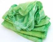 Mawatas Silk Hankies Green Chartreuse  - 16 grams