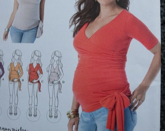 Simplicity 1468 Misses Knit Maternity Tops by Megan Nielsen (uncut)