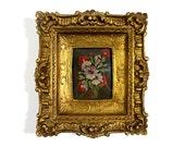 Original Vintage Floral Oil Painting - Tara Productions 4