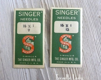 16x1 Singer Sewing Machine Round Shank Needles Size 9 Size 13 Vintage Old Stock Needles Total of 6 needles Simanco Envelopes