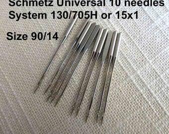 Size 90/14 Universal 10 Schmetz Sewing Machine Needles System 130/705H