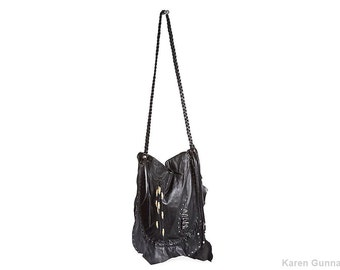 Big Leather Shoulder Bag-Crossbody, Slouch, Bohemian Bag- The Rowan