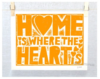 HOME is Where the Heart Is  Home and Garden Fine Art print, Mother's Day Gift, Mothers Day Gift