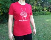 Knit for Brains Original Design Knitting Tee Shirt Ladies *SALE*