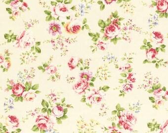 Rococo Sweet 2014 Small Roses on cream Cotton Fabric Lecien 30153-10