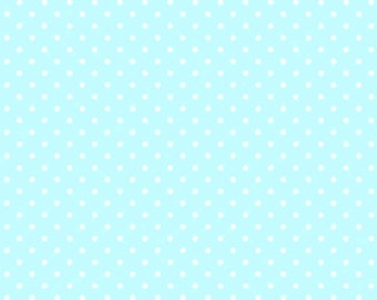 Sunrise Studio Aqua Dot  Cotton Fabric  by Lakehouse Dry Goods LH14029aqua