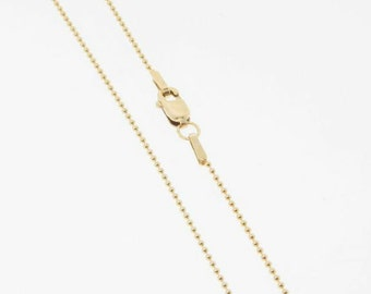 16 Inch - Gold Filled 1mm Ball Chain Necklace