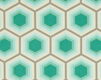 SALE - Tula Pink - Bumble Collection - Honeycomb in Jade
