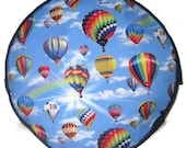 Hot Air Balloon Pouffe Foot Rest Floor Cushion Pouff