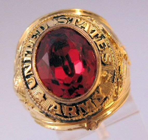 Vintage 10k Gf United States Army Ring Size By