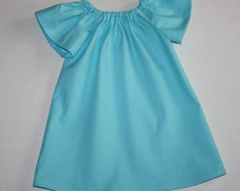 sweet blue Easter dress - Peasant dress - girls dresses - baby Easter dress - toddler Easter dress - blue,  9, 12, 18 mo 2t, 3t, 4T