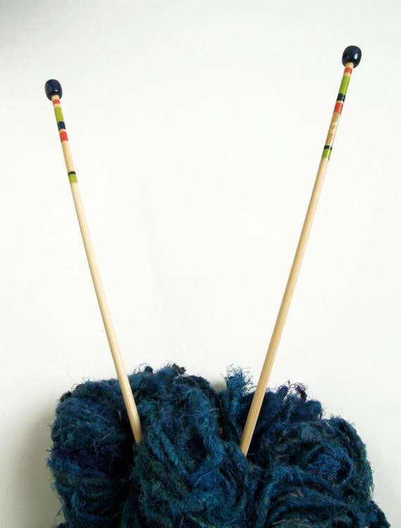 Knitting Needles Paint Kitchen : Size knitting needles hand painted mm