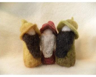 Three Autumn Toned Gnomes For Fun Home Decor