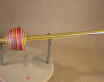 color wood  drop spindle  / spported spindle  id# 410c104