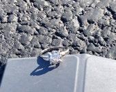 Mine cut antique diamond engagement ring .75 ct
