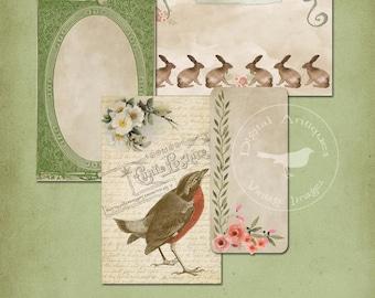 Vintage Spring Medley Collage Sheet Easter