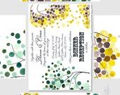 Printable Custom Wedding Invite Suite DIY GIFT KIT - Save the Date, Wedding Invitations, Rsvp, Thank You Card - original tree paintings
