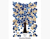 Wedding Guest Book Alternative WINTER OAK TREE - 175 Guest Signatures - wedding guest book art Poster keepsake - Trees of Life Collection