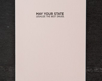 legalization blessing. letterpress card. #628