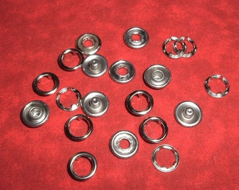 125 Sets Gripper Snaps Size 16 No Sew Snaps 11 mm. Snap Fasteners