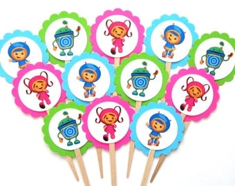 Team Umizoomi Cupcake Toppers . Team Umizoomi Birthday Party . Team Umizoomi Decorations . Set of 12