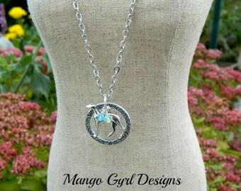 Greyhound Silver Necklace, Greyhound Birthstone, Greyhound Gifts, Greyhound Jewelry, Greyhound Adoption Necklace
