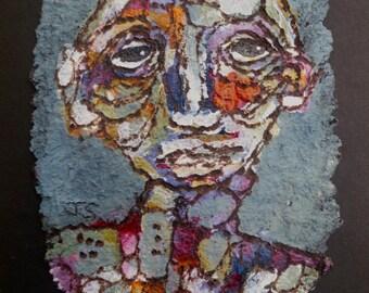 art painting acrylic mixed media person portrait