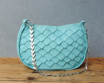 Mermaids Tail Bag - Folded Linen with Metal Strap